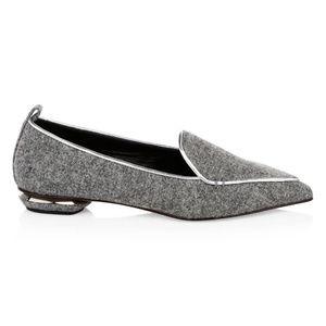 NICHOLAS KIRKWOOD Wool Beya Flats 7.5